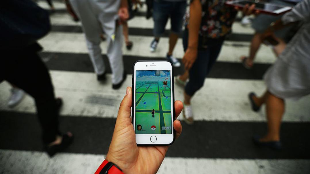 A Pokemon Go user plays Pokemon GO game in New York City, NY on July 13, 2016.