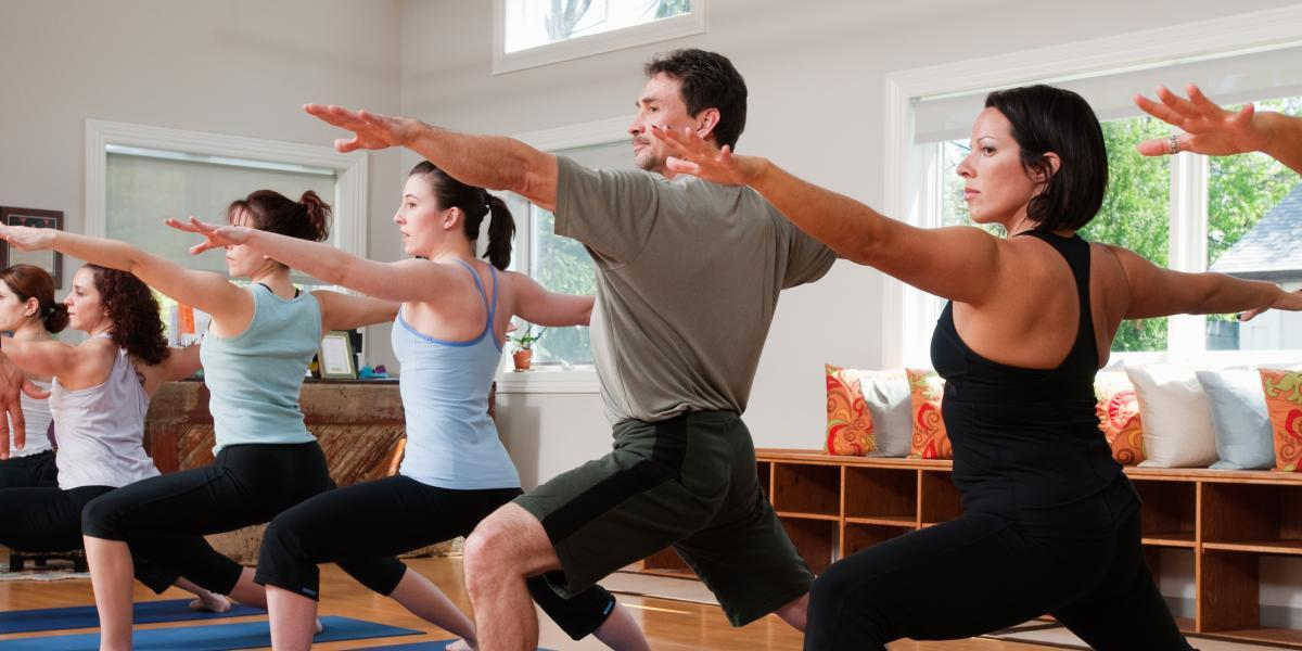 The benefits of yoga keep piling up, from flexibility to stress relief, and guys are tuning in